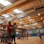 Wurfübungen - Sparkasse Harburg-Buxtehude Basketballtag